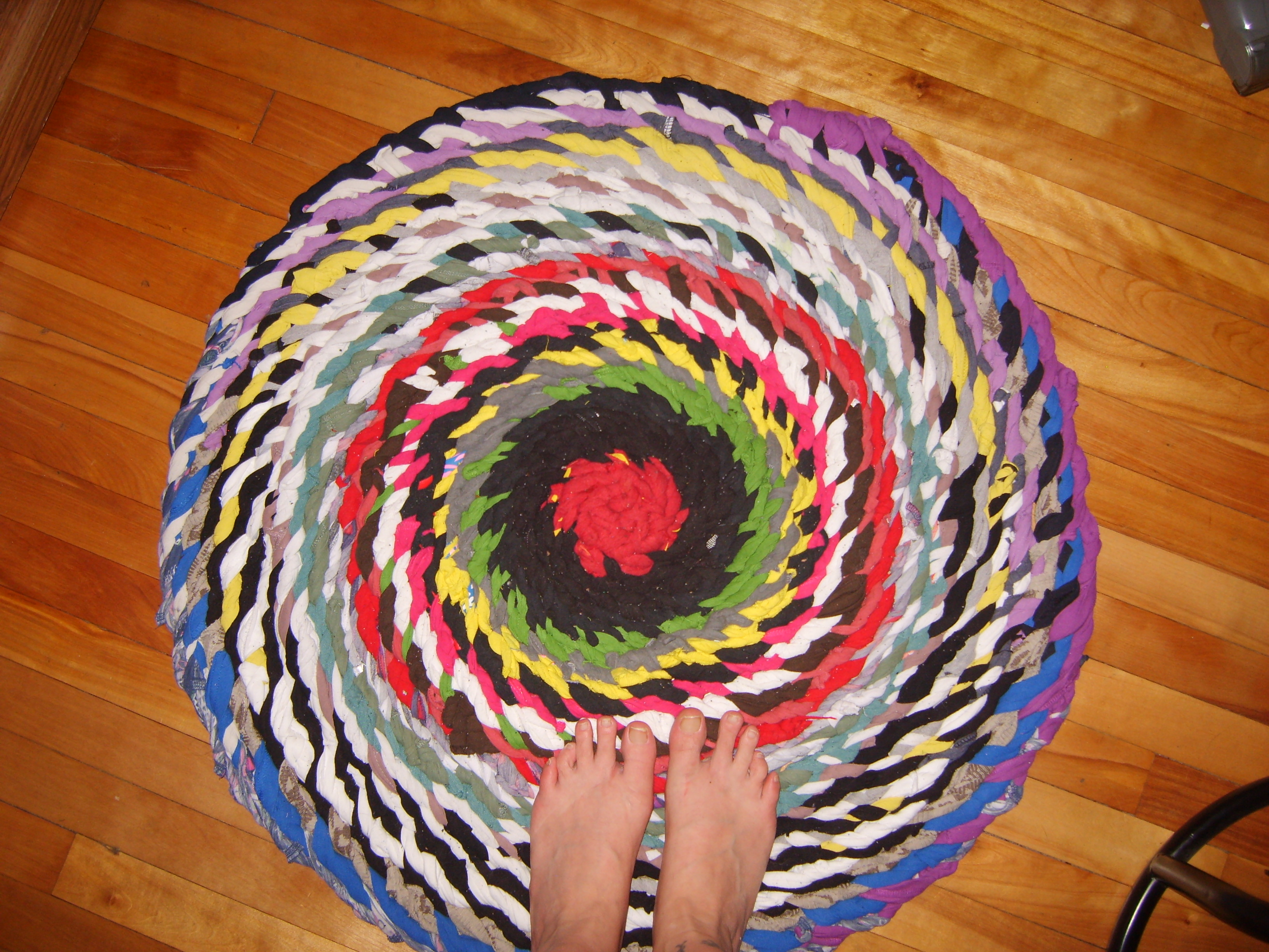 No Sew Braided Rag Rug W Photos And Semi Tutorial